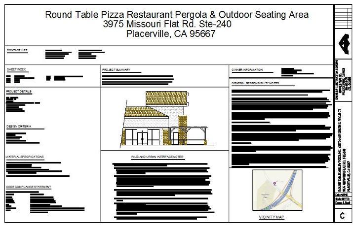 Round Table Pizza Placerville Ca.Snowline Construction Design